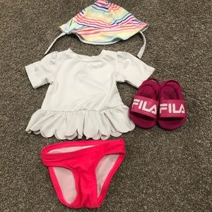 Baby/Toddler girl swim outfit